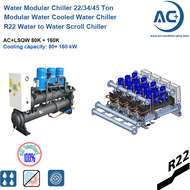 R22 Modular water cooled water chiller / Water Cooled Scroll Chiller modular water chiller