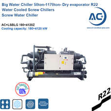 Water Cooled Screw Water Chiller Dry evaporator R22(600 ton chiller)