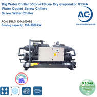 R134A Dry Evaporator Water Cooled Water Chiller Screw compressor screw water chiller