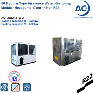 60 Modular Type Air source Water Heat pump modular heat pump