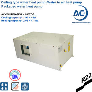 Ceiling type water to air water heat pump