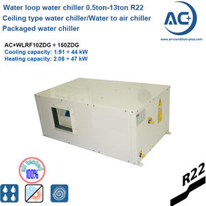 R22 Packaged Ceiling Mounted Water Chiller/water to air water chiller