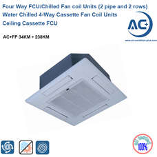 Water Chilled 4-Way Cassette Fan Coil Units water fan coil