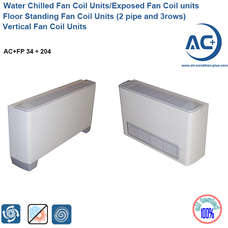 Floor Standing Fan Coil Units (2 pipe and 3rows) water chilled fan coil units