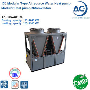 130 Modular Type Air source Water Chiller scroll type air source heat pump