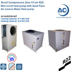Air source Water Heat pump 2ton-15 ton R22 mini heat pump