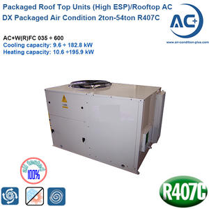 high esp rooftop units air condition 2ton-54ton R407C