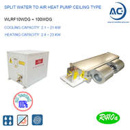 Split Water to air heat pump Ceiling type