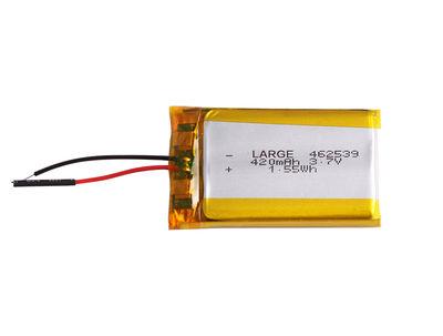 PL462539 3.7V 420mAh Lithium Polymer Battery