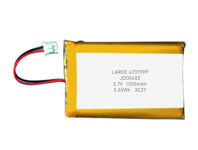 PL623759 3.7V 1500mAh Polymer Lithium Battery Pack