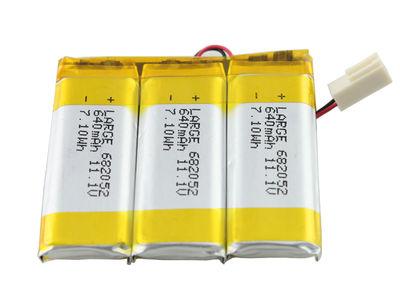 682052 (3S1P)Lithium Polymer Battery Pack 11.1V 640mAh