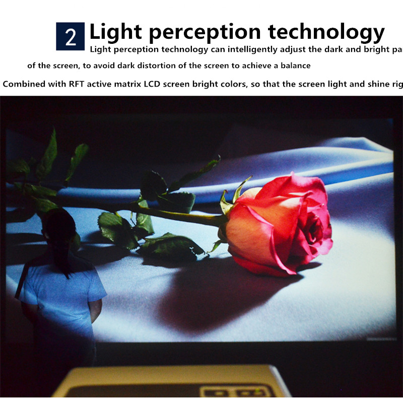 light perception technology projector