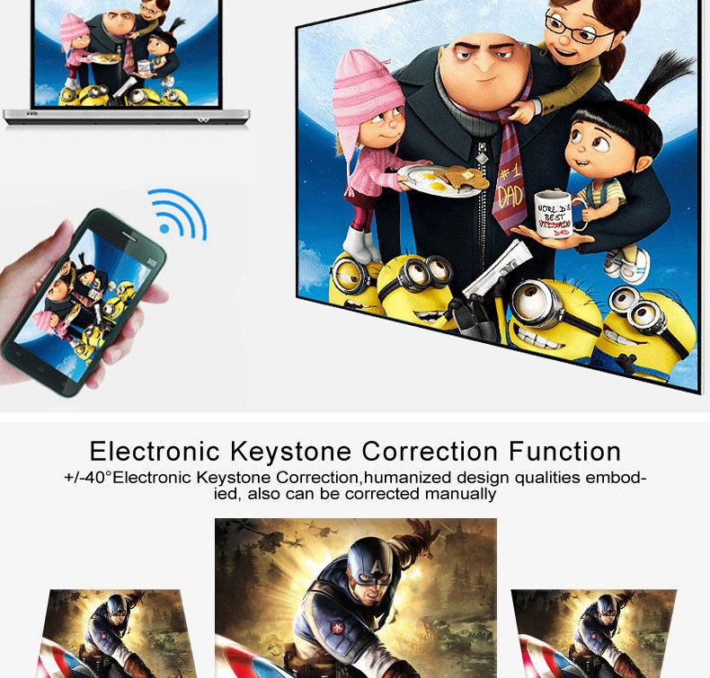 electronic keystone correction projector