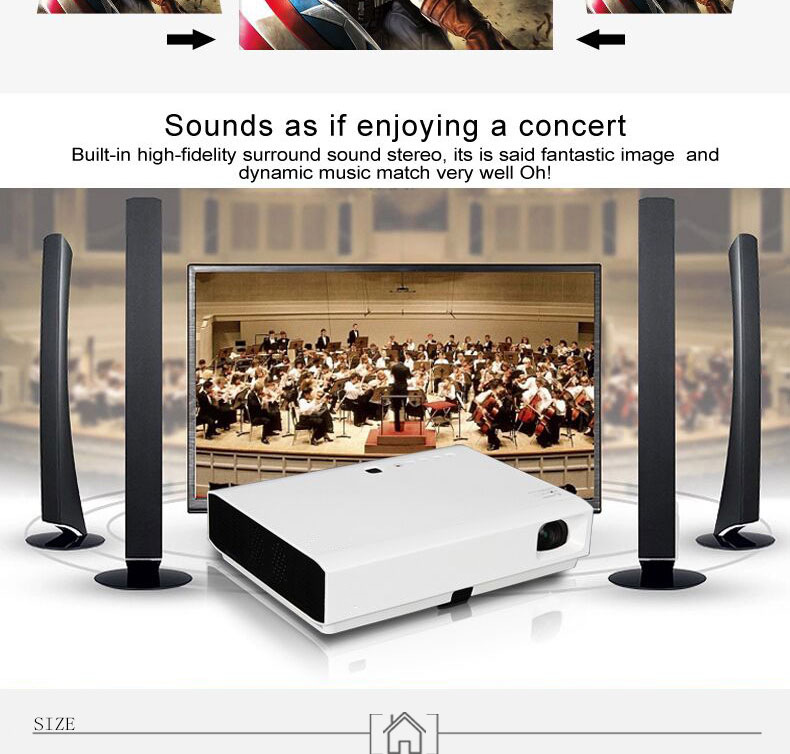 projector with high quality sounds entertainment