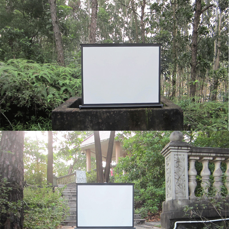 outdoor projector screen backyard
