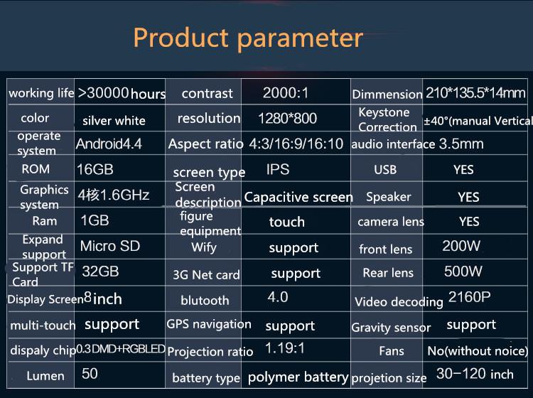 T7 Projector parameter
