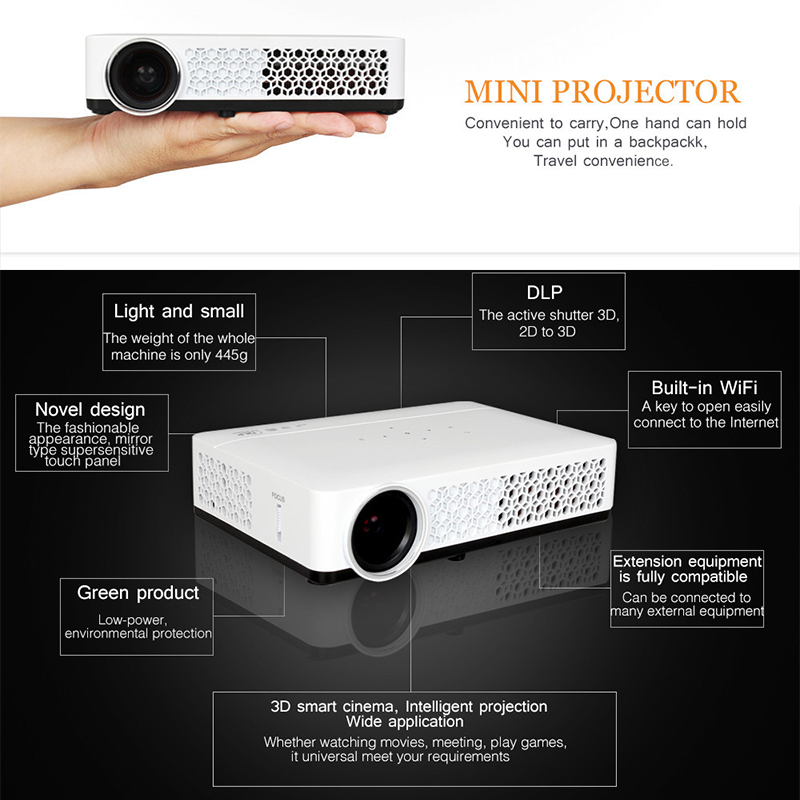 mini projector android wifi dlp
