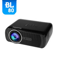 BL80 hd led projector 1080p TFT LCD Technology 15 degree Keystone Correction Manufacturer