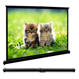 High quality 50 inch roll up 4:3 portable projector screen for business meeting