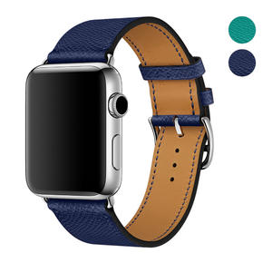 WAfeel 9 Colors for Apple Watch Bands 42mm and 38mm, Genuine Leather Watch Replacement Band/Strap/Bracelet for iWatch Series 3, Series 2, Series 1