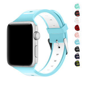 Sport Band for Apple Watch 42mm 38mm, Soft Silicone Strap Replacement iWatch Bands for Apple Watch Sport, Series