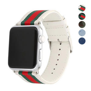 New Casual Nylon Leather Watch Band Buckle Watchband For Apple Watch iwatch Series 1 Series 2