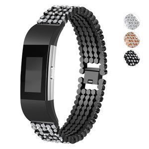 For Fitbit Charge 2 Band Stainless Steel Replacement Accessory Bands,Oitom premium stainless steel watch band strap for fitbit Charge 2 Smart Fitness Watch