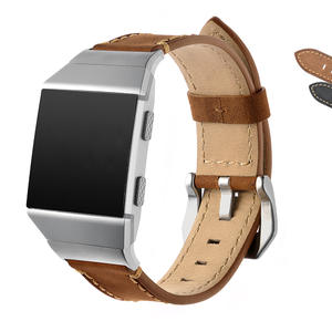 Top Quality Genuine Leather Watch band for Fitbit Crazy Horse Black Brown​