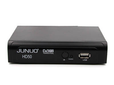 JUNUO Dvb T2 Hd Supplier Cable Tv Set Top Box  Support MPEG-2/4 Standard