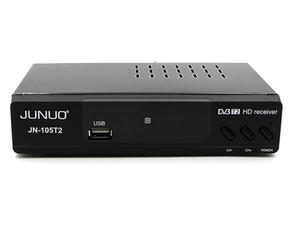 Junuo Dvb T2 Receiver Supplier 1080p Full HD Receiver With CVBS,HDMI,Coaxial Output