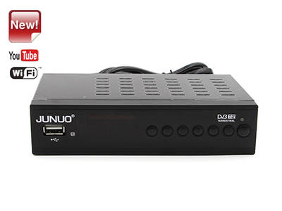 wholesale Junuo Factory Dvb T2 Digital Tv Receiver insert Youtube app