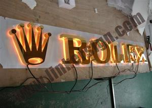 3D fabricated back lighted led advertising letter signage
