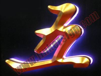 3D face letter signage with leds for back lighted