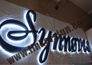 back lighted advertising letter signage
