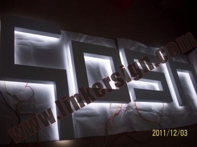stainless steel build up letter signage