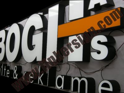 led acrylic build up lighted signage