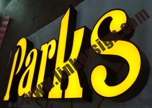 yellow leds front lighted advertising signage