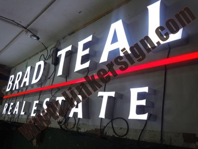 front lighted led advertising letter signage