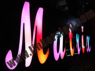 outdoor RGB led lighted letter signage