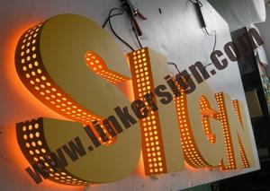 side holes with leds for advertising signage with high quality