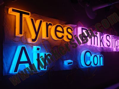 Various leds for side lighted signage