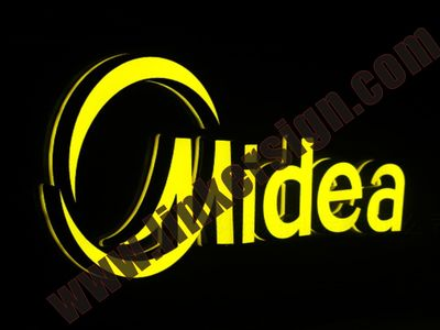 led outdoor logo signage