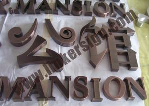 stainless steel build up letters with antique brass with high quality