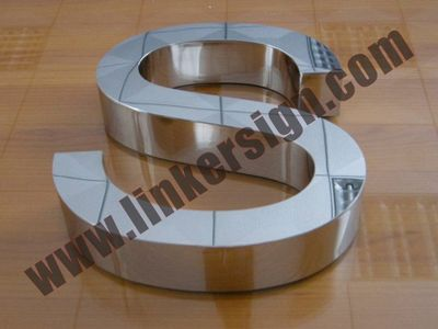 mirror stainless steel letter signage