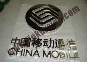 mirror stainless steel shop front letter signage with high quality