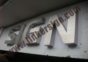 brushed stainless steel channel letter signage with high quality