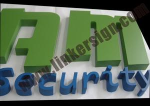 aluminum letter signage painted with various colors with high quality signage