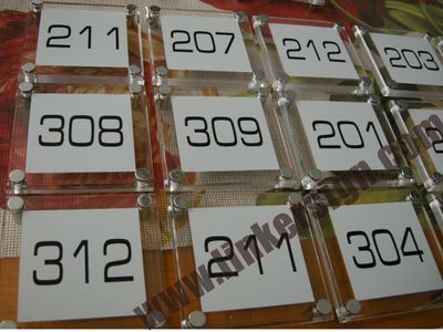 silk screen acrylic door number signage