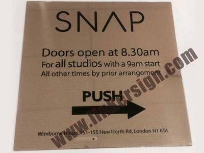engraved stainless steel signage