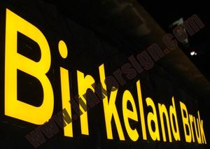 led sign letters for Norway Sweden Finland and Denmark